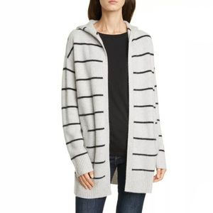 Nordstrom Signature Grey Striped Cashmere Sweater